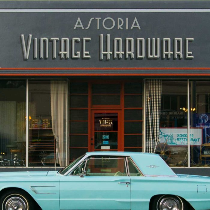 Vintage Hardware Overhead Signs